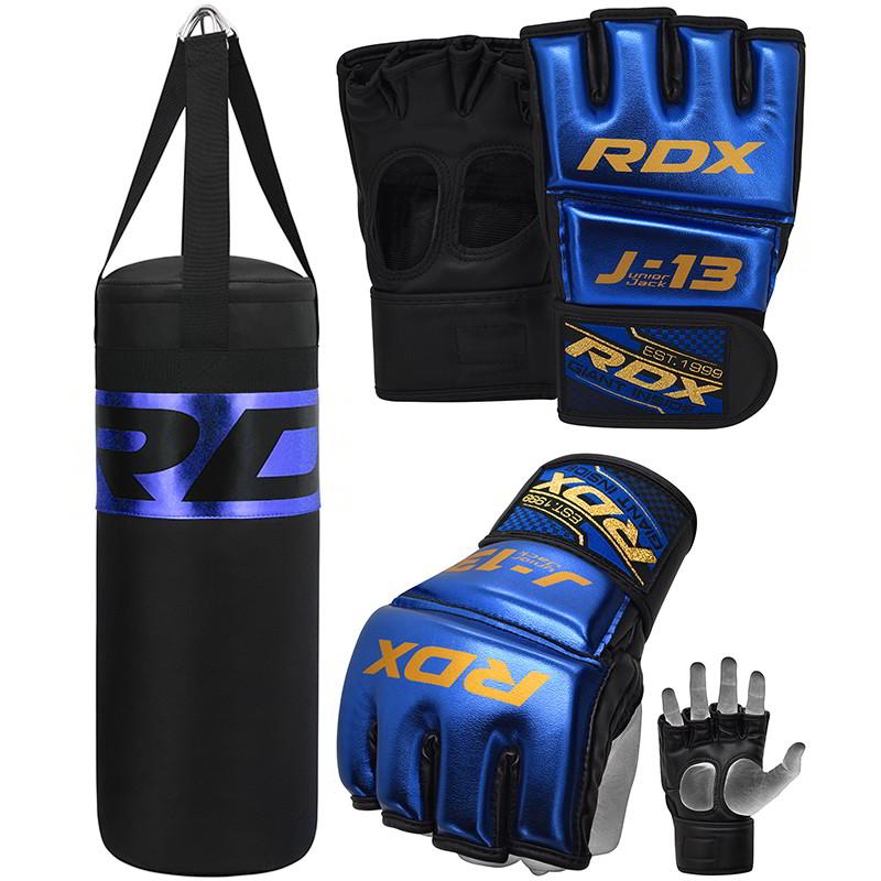 RDX J13 Bleu Gants de MMA Grappling et de Ensemble Sac de Box