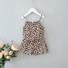 Toddler Girls Leopard Print Cami Top & Shorts
