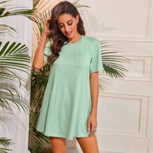 Pocket Patched Tee Dress