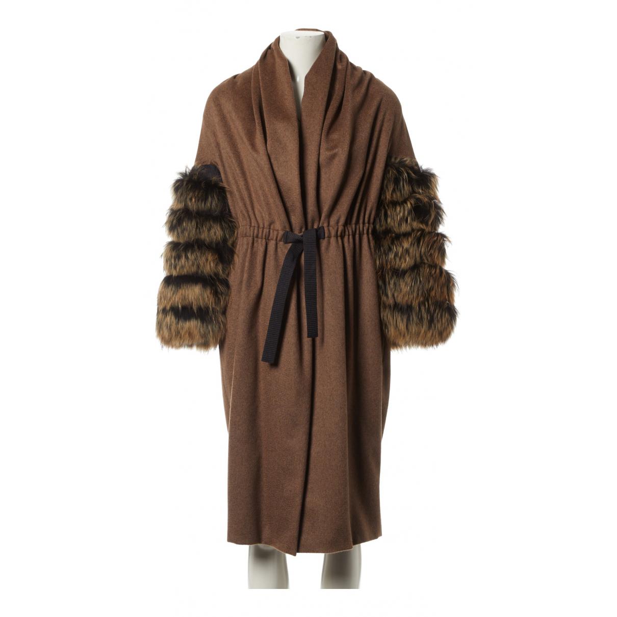 Max Mara \N Brown Fur coat for Women 42 FR
