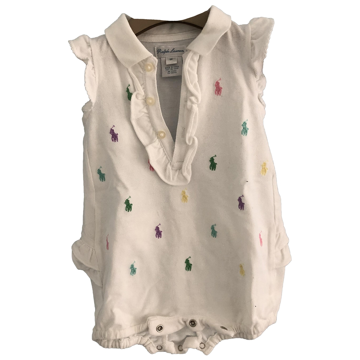 Ralph Lauren - Robe    pour enfant en coton - blanc