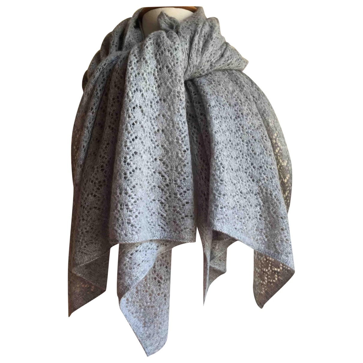 Non Signé / Unsigned \N Grey Cashmere scarf for Women \N
