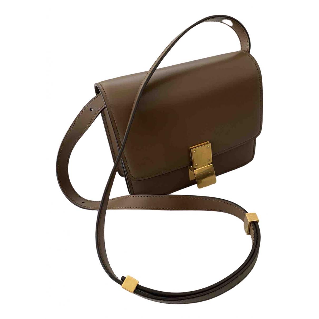 Celine Classic Handtasche in  Beige Leder