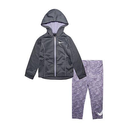 Nike Toddler Girls 2-pc. Legging Set, 2t , Purple