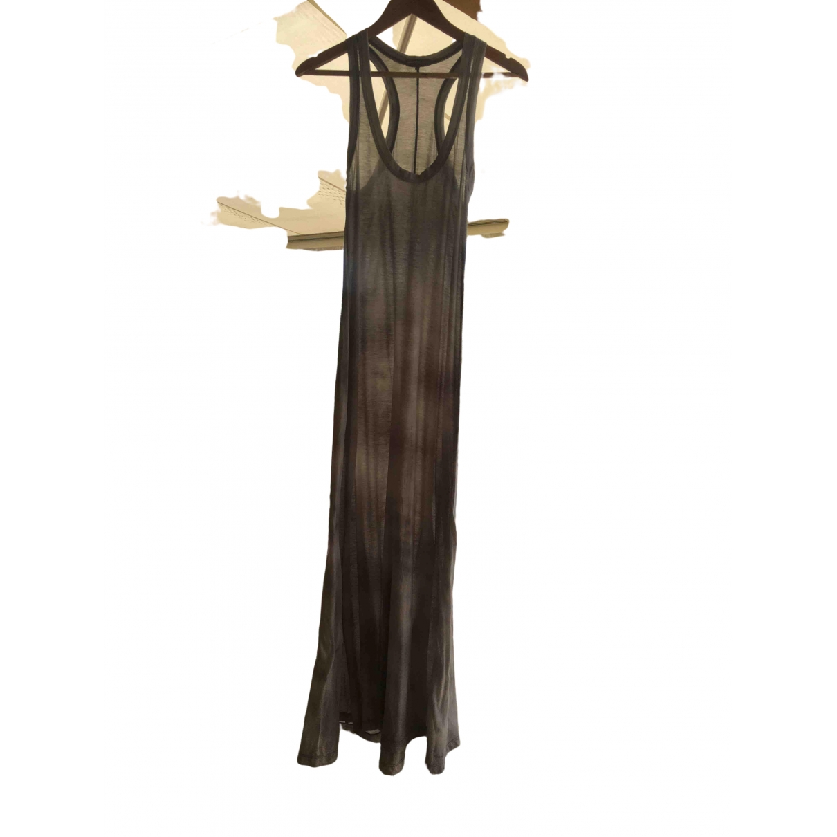 James Perse - Robe   pour femme en coton - gris