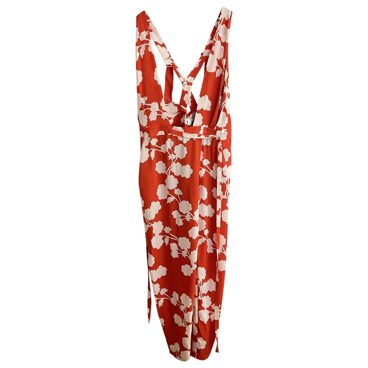 Diane Von Furstenberg - Combinaison   pour femme en soie - rouge