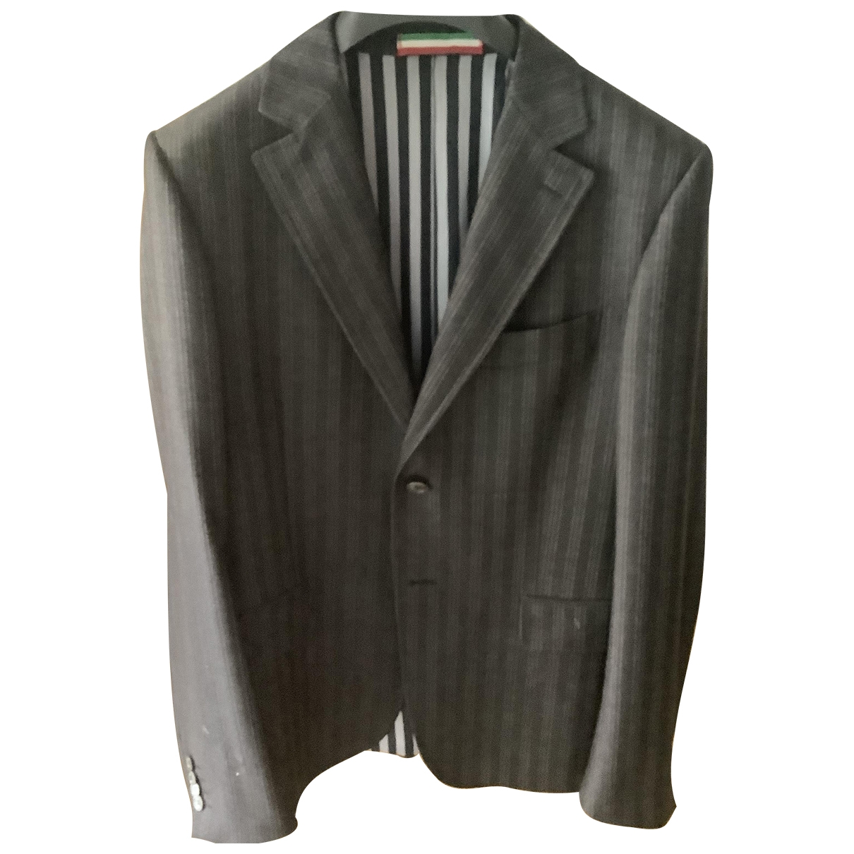Moschino \N Grey Wool Suits for Men 50 IT