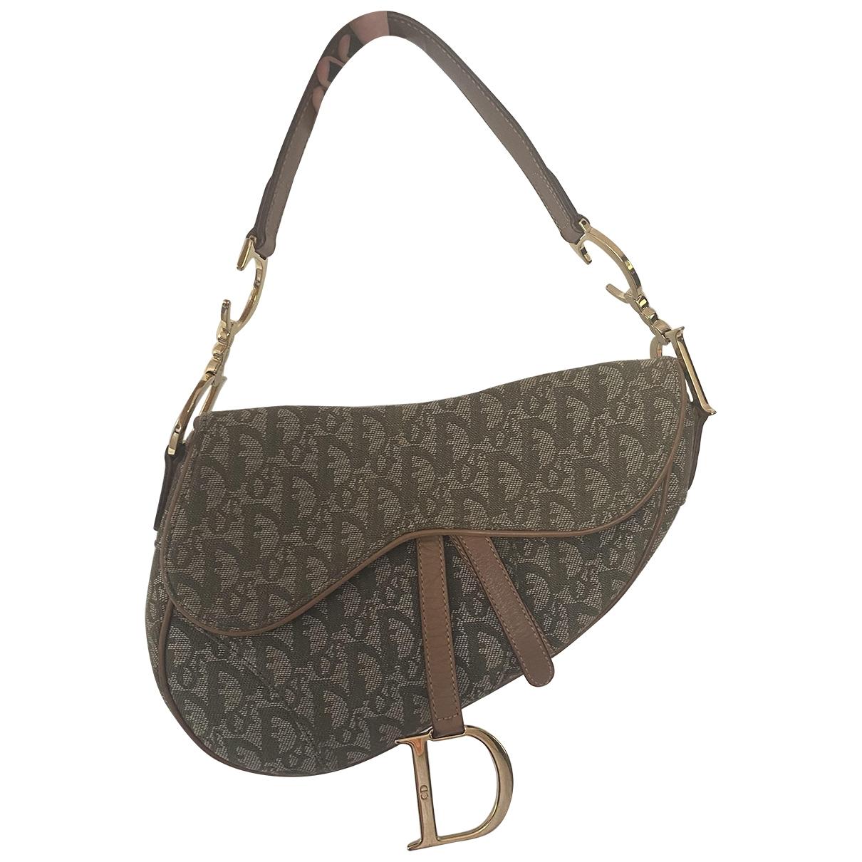 Dior - Sac a main Saddle pour femme en toile - vert