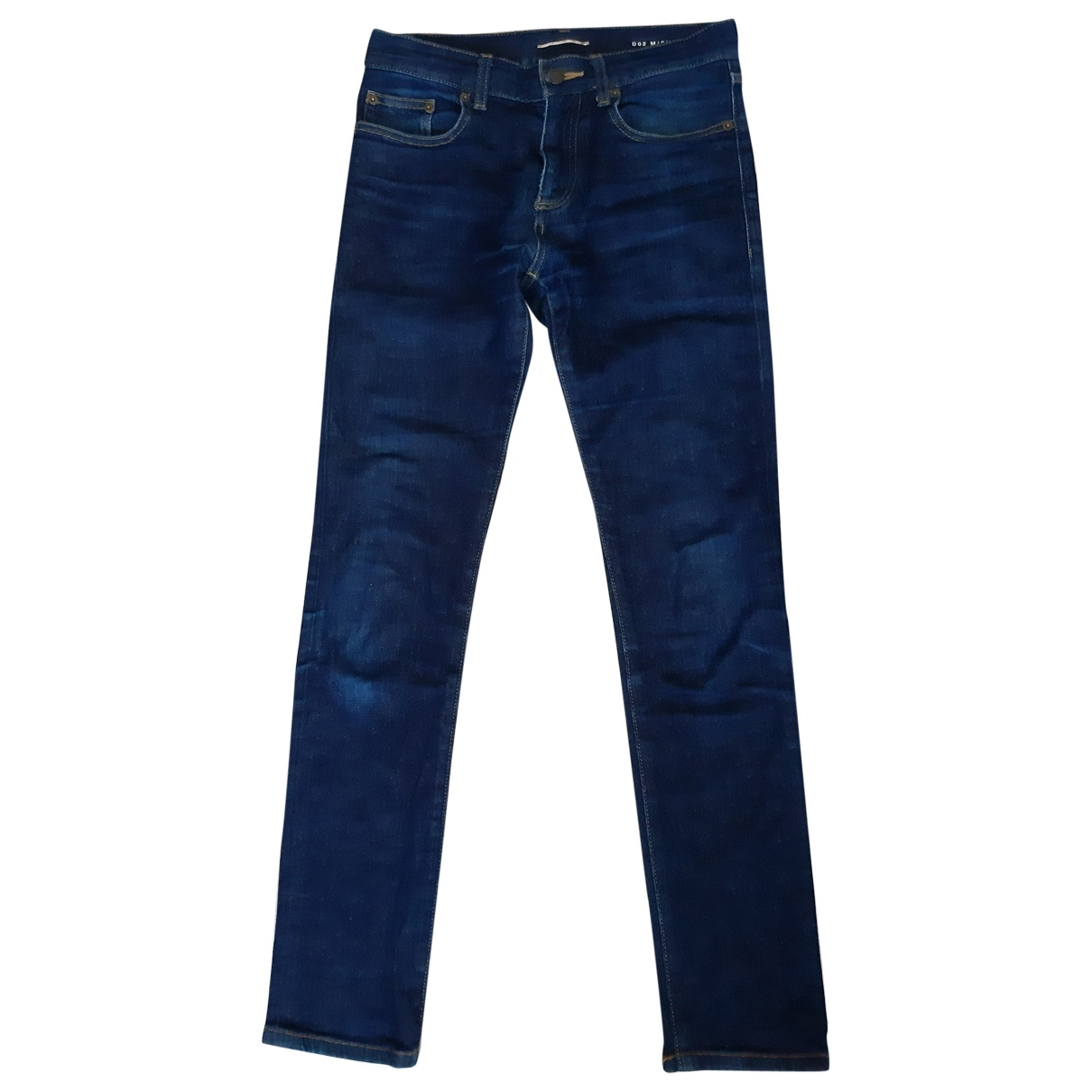 Saint Laurent \N Navy Cotton - elasthane Jeans for Men 38 FR