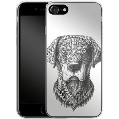 Apple iPhone 8 Silikon Handyhuelle - Labrador von BIOWORKZ