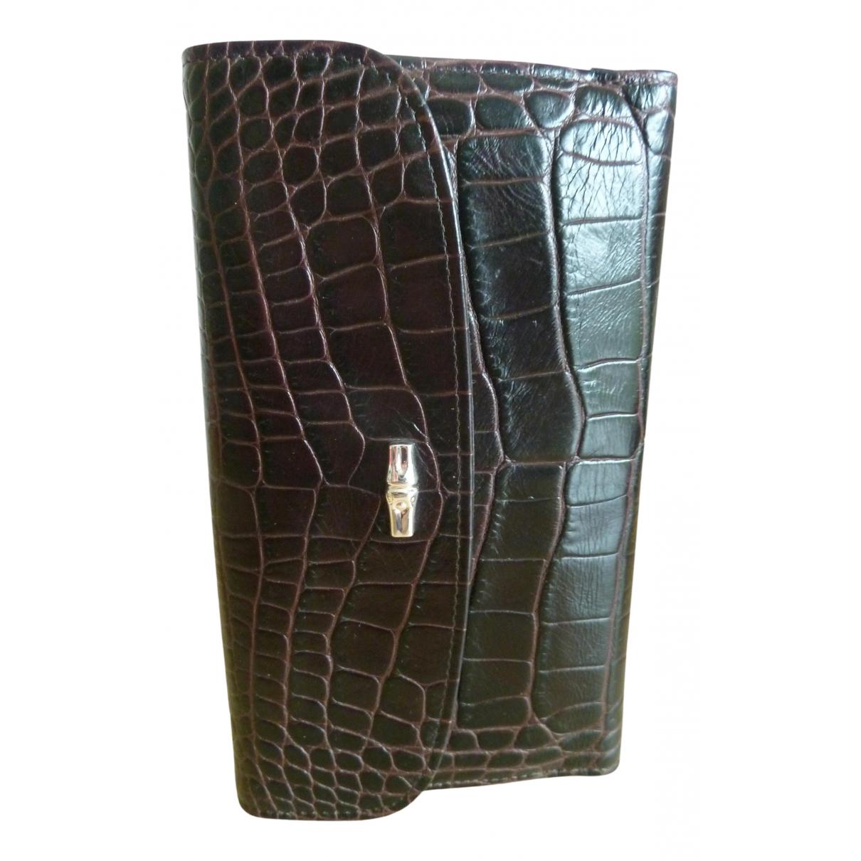 Longchamp - Portefeuille Roseau pour femme en cuir - bordeaux