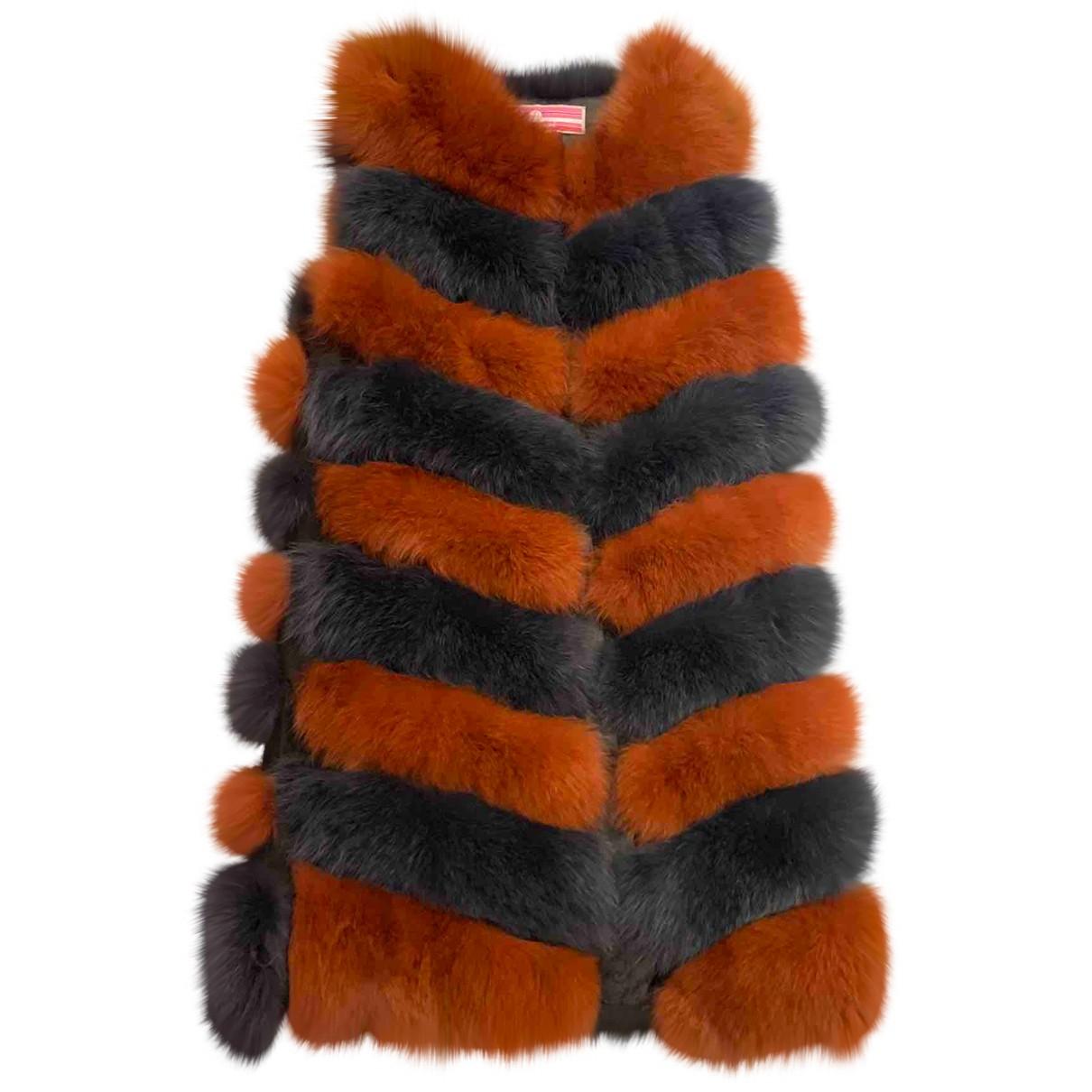 Non Signé / Unsigned N Multicolour Fox coat for Women M International