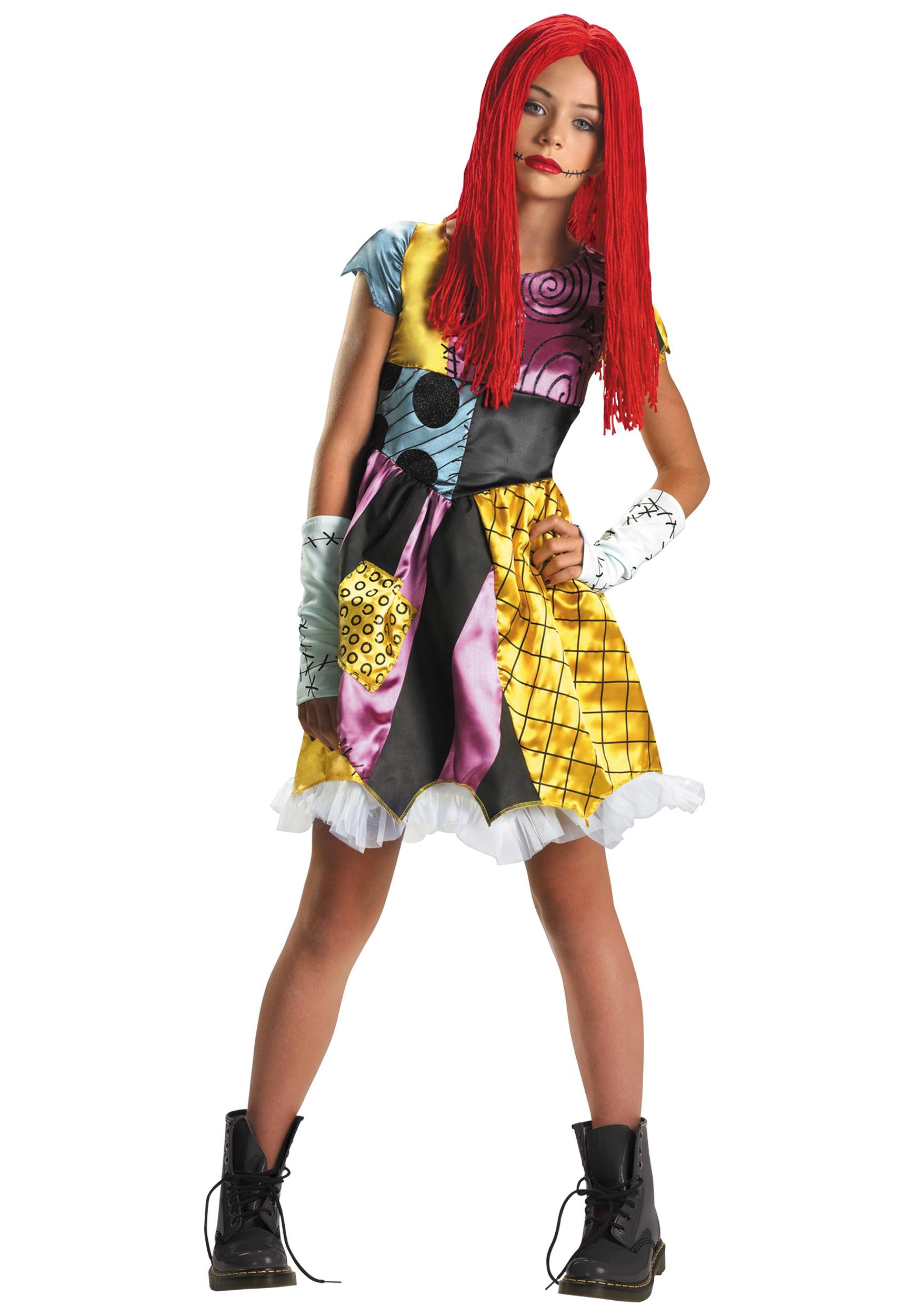 Sally Rag Doll Costume for girls | Nightmare Before Christmas Costume