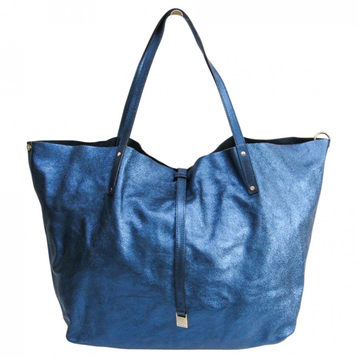 Tiffany & Co - Sac a main   pour femme en cuir - bleu