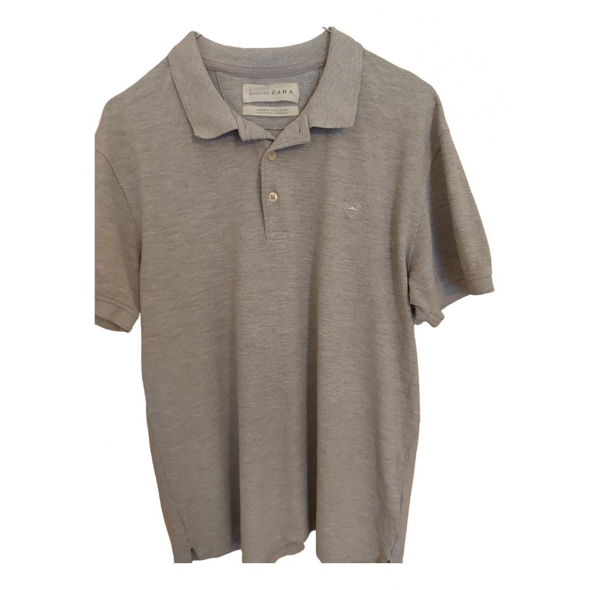 Zara - Polos   pour homme en coton - gris