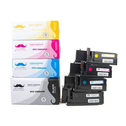Xerox 106R02759 106R02756 106R02757 106R02758 Compatible Toner Cartridge Combo BK/C/M/Y - Moustache®