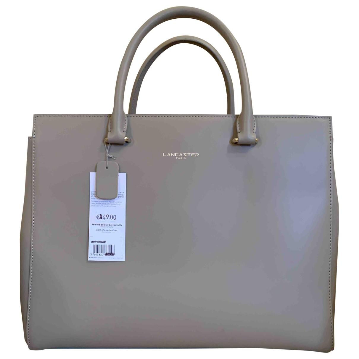 Lancaster \N Beige Leather handbag for Women \N