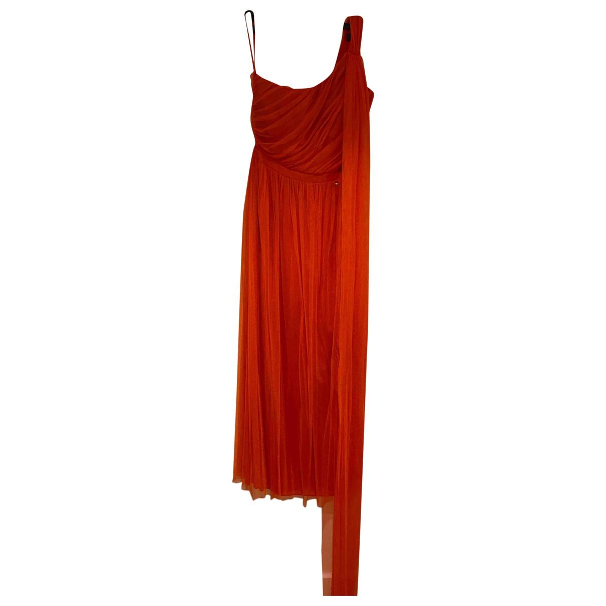 Elisabetta Franchi \N Kleid in  Orange Baumwolle
