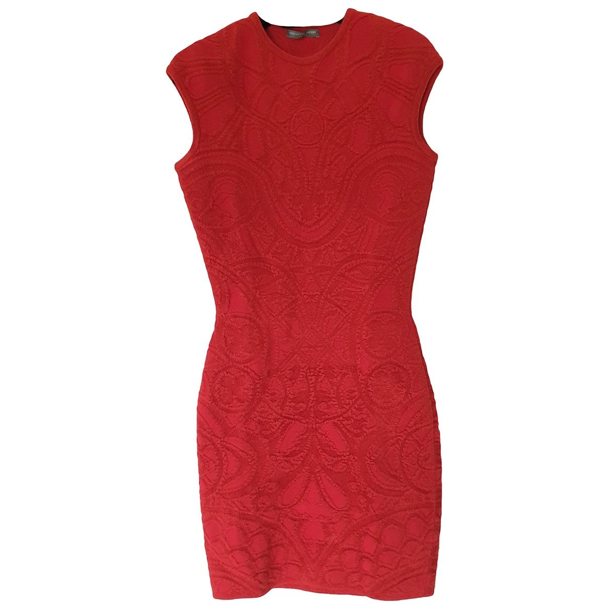 Alexander Mcqueen - Robe   pour femme en laine - rouge