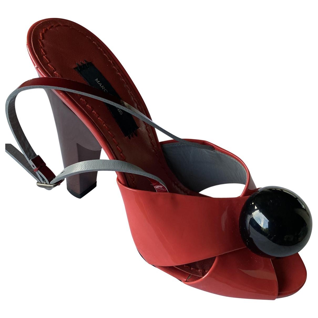 Marc Jacobs \N Sandalen in  Rot Leder