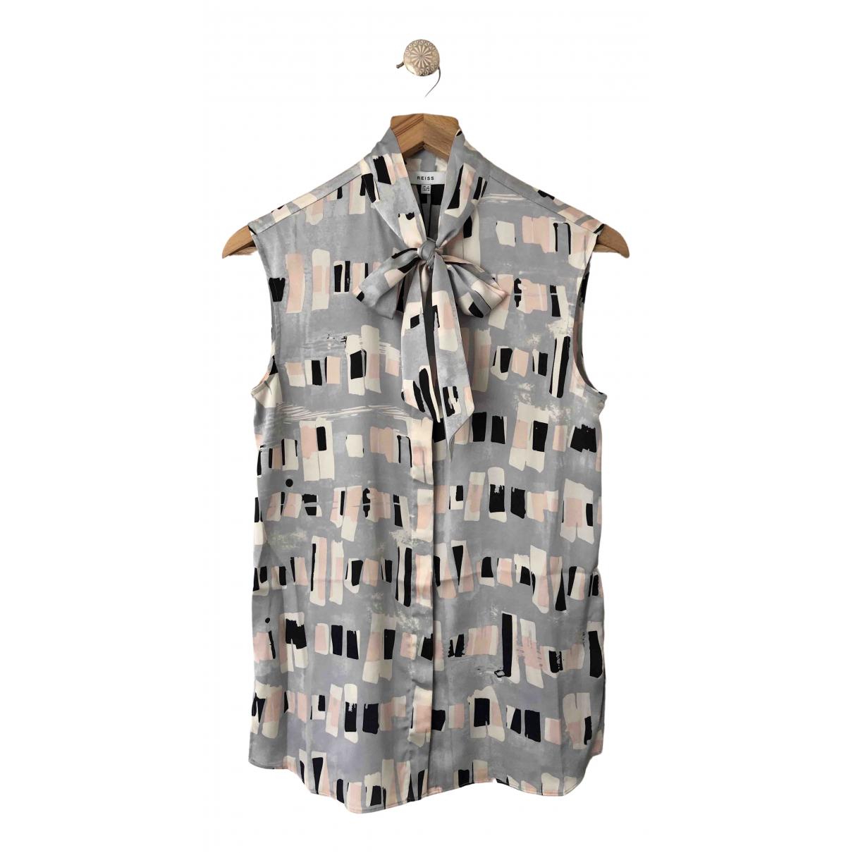 Reiss \N Top in  Grau Polyester