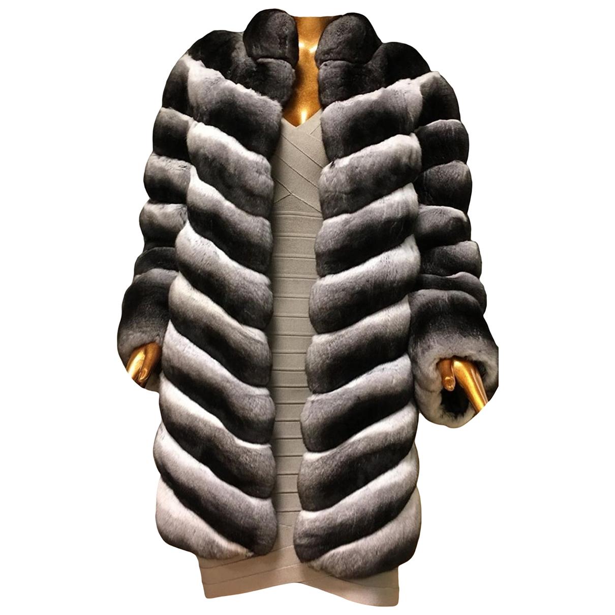 - Manteau   pour femme en chinchilla - multicolore