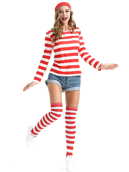 Milanoo Where\'s Wally Halloween Cosplay Costume For Women