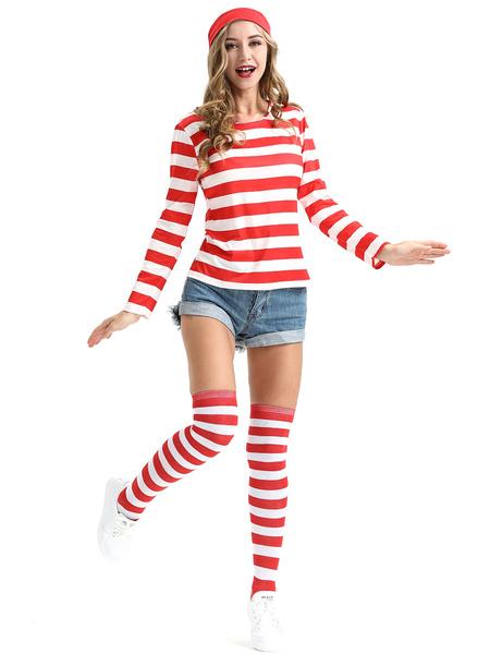 Milanoo Where\'s Wally Halloween Cosplay Costume For Women