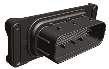 TE Connectivity , AMP MCP 1.5/2.8 Automotive Connector Plug 62 Way, Solder Termination, Black