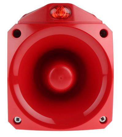 Klaxon Nexus Pulse Sounder Beacon 105dB, Red LED, 17 → 60 V dc, IP66