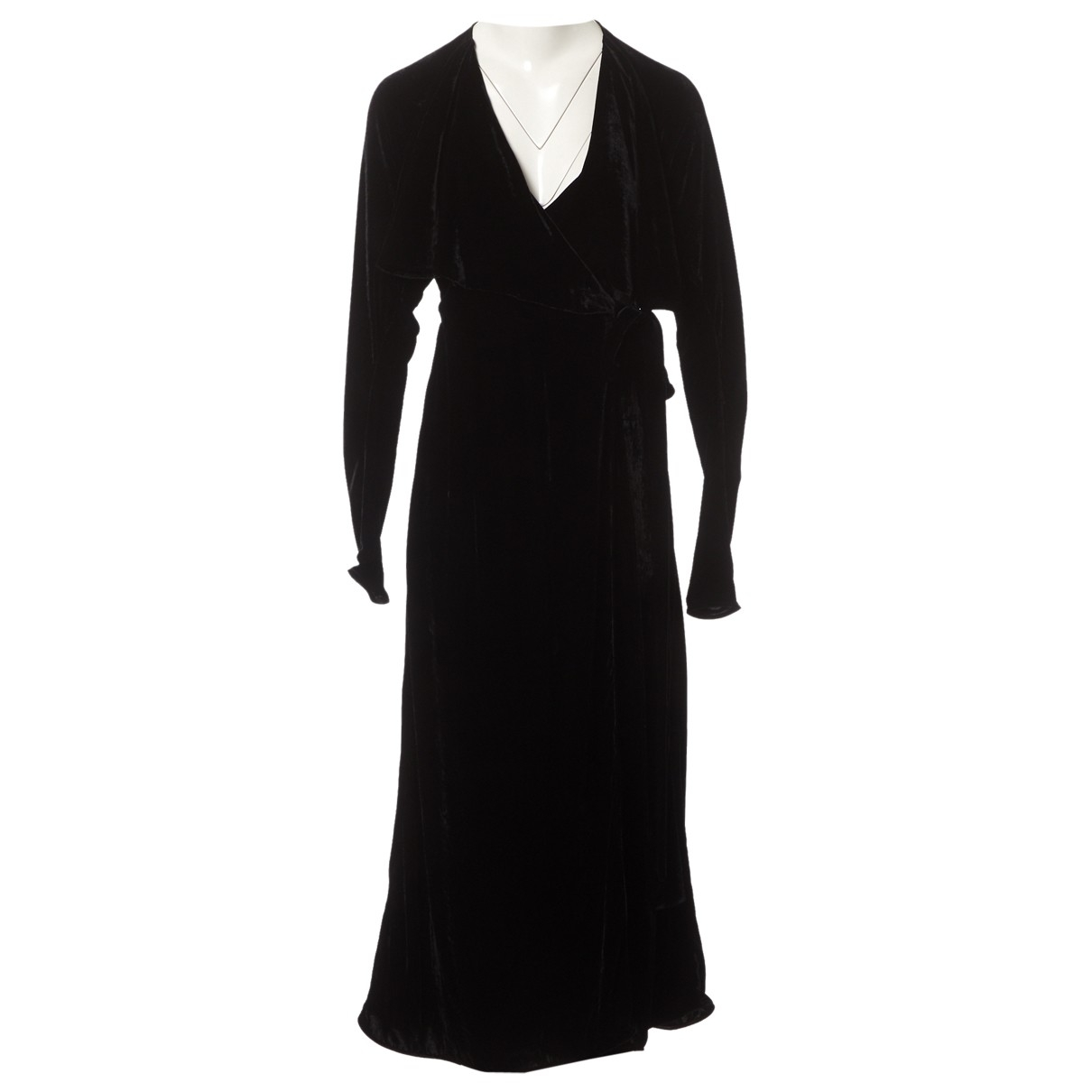 Attico - Robe   pour femme en velours - noir