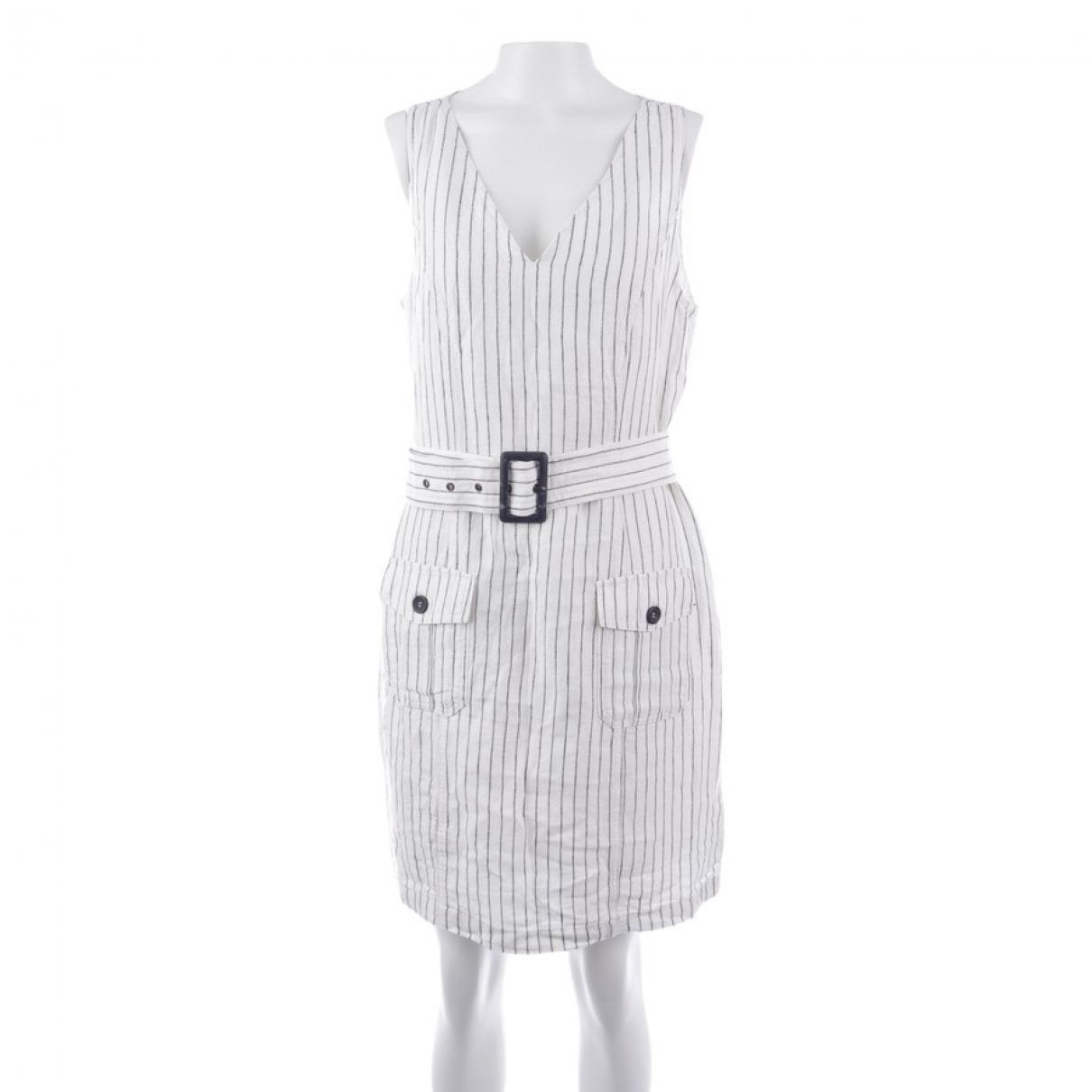 Rachel Zoe \N Kleid in  Weiss Leinen
