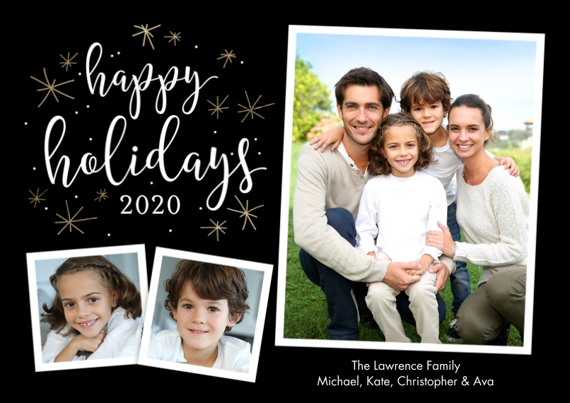 Holiday Photo Cards 5x7 Cards, Standard Cardstock 85lb, Card & Stationery -Holiday 2020 Stars by Tumbalina