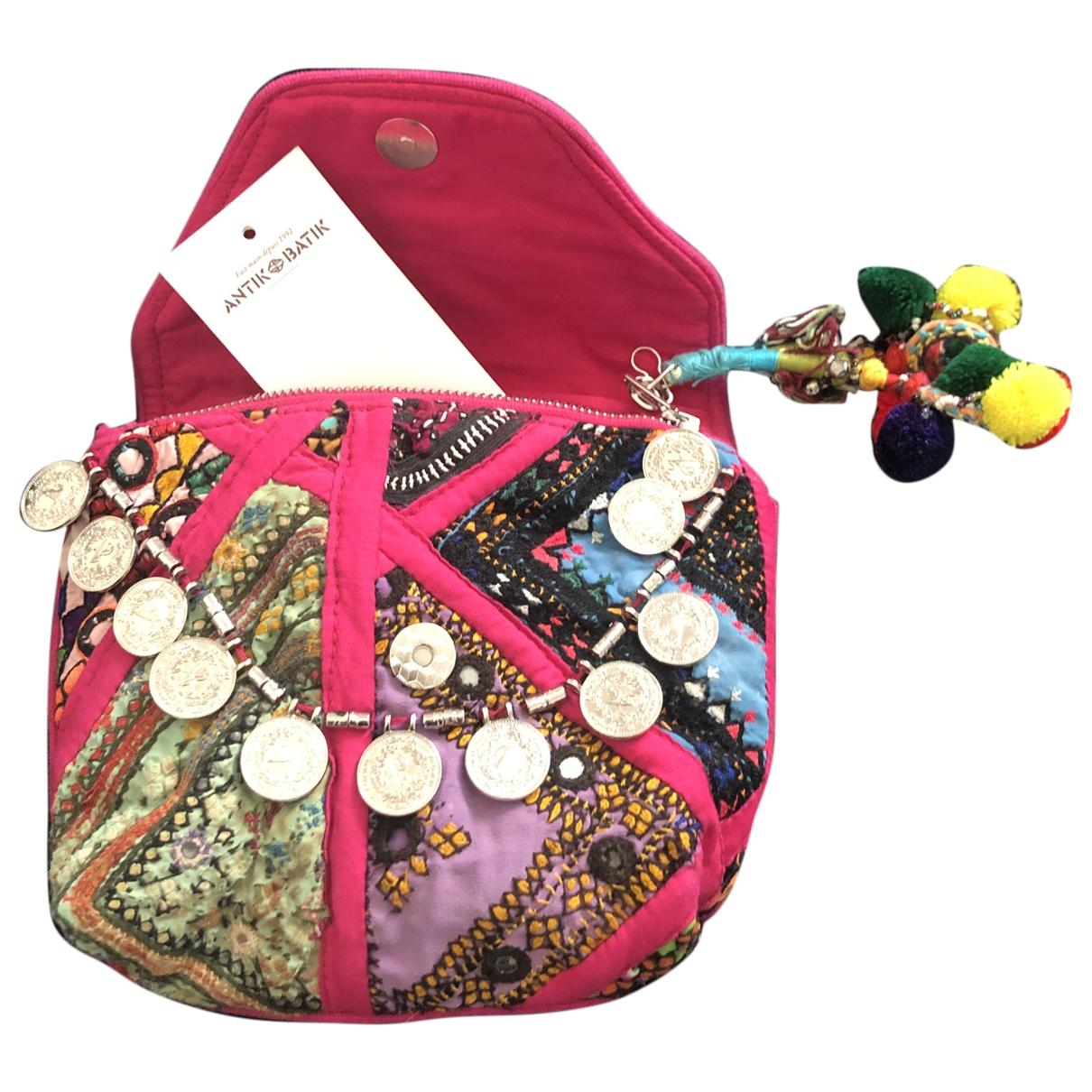 Antik Batik - Pochette   pour femme en coton - rose