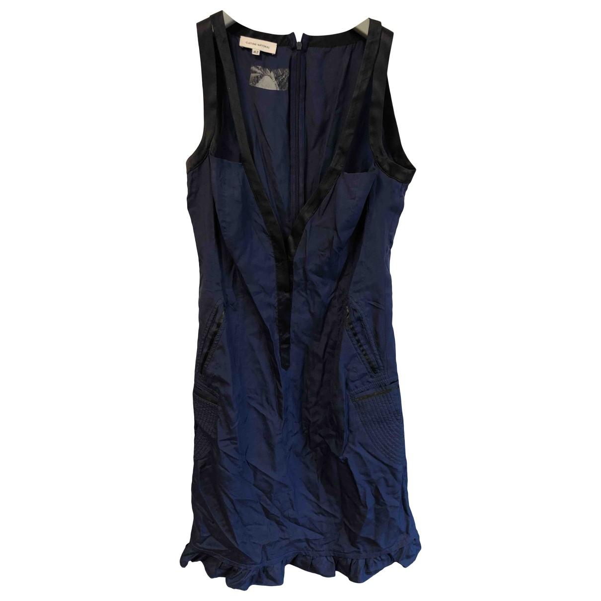 Costume National - Robe   pour femme en soie - bleu