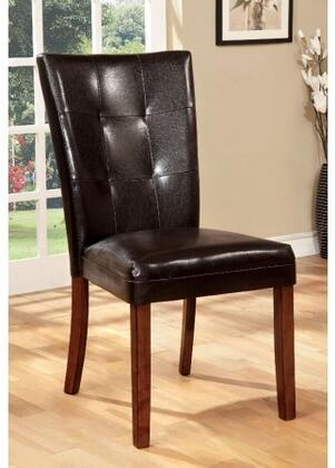Elmore Collection CM3328SC-2PK Set of 2 Modern Style Side Chair with Padded Leatherette Seat in Antique Oak