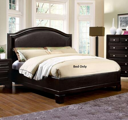 Winsor Collection CM7058Q-BED Queen Size Platform Bed with Slat Kit Included  Curved Leatherette Headboard  Solid Wood and Wood Veneer Construction