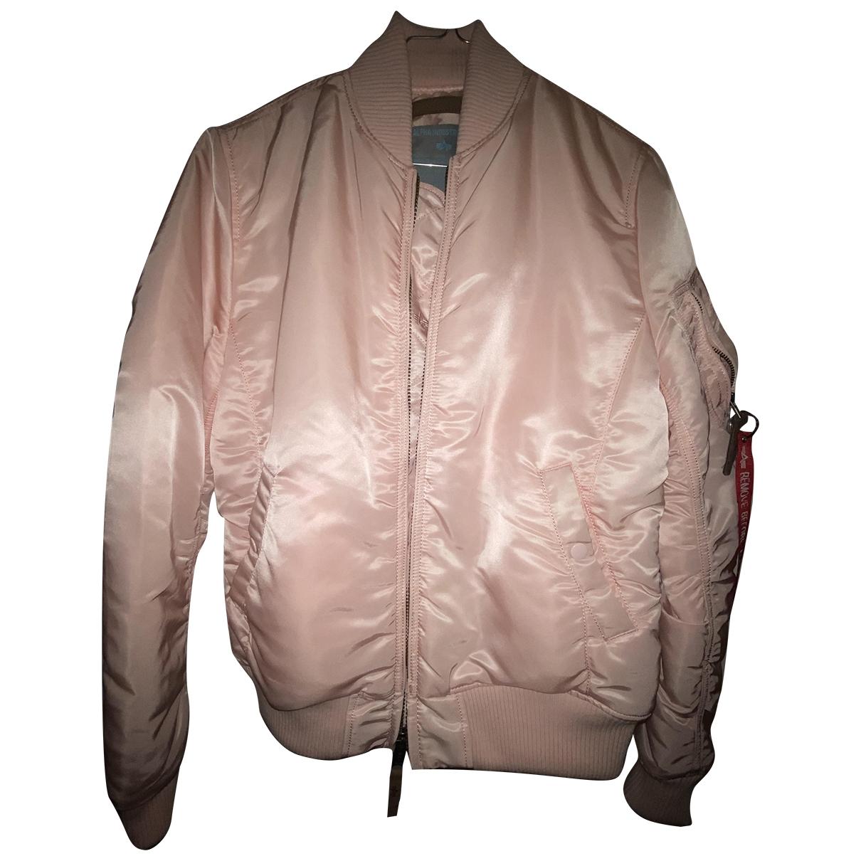 Alpha Industries - Veste   pour femme en coton - rose