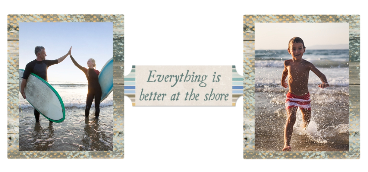 Everyday 11 oz. Light Blue Accent Mug, Gift -At The Shore