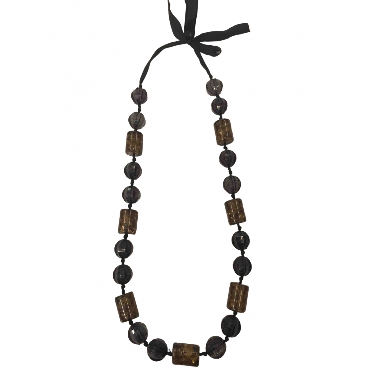 Non Signé / Unsigned \N Grey Ceramic Long necklace for Women \N