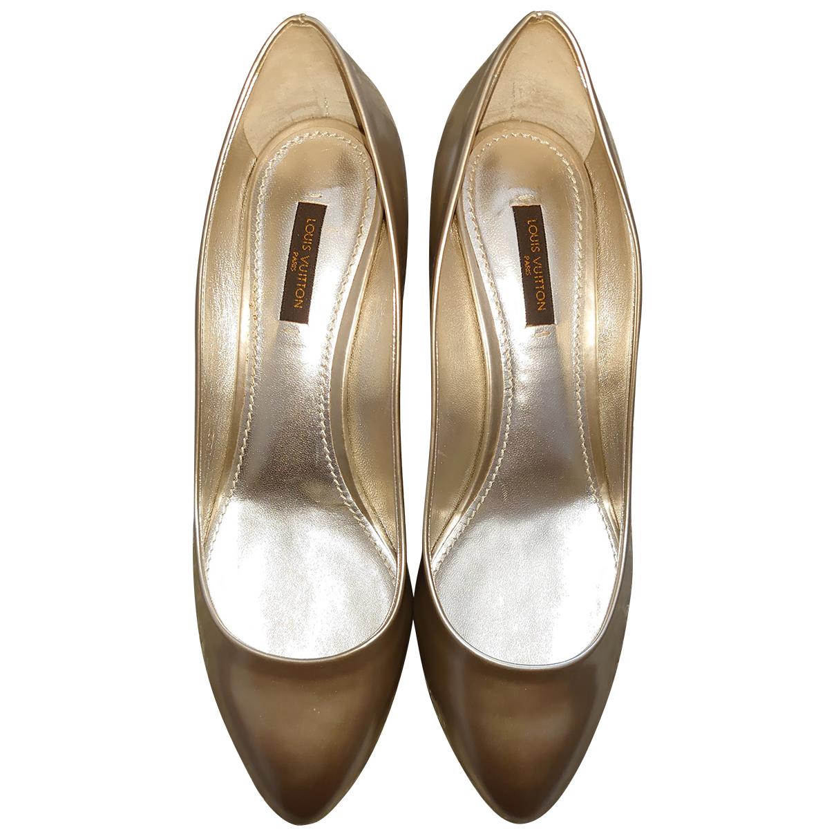 Louis Vuitton \N Ballerinas in  Metallic Leder