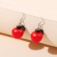Apple Design Drop Earrings