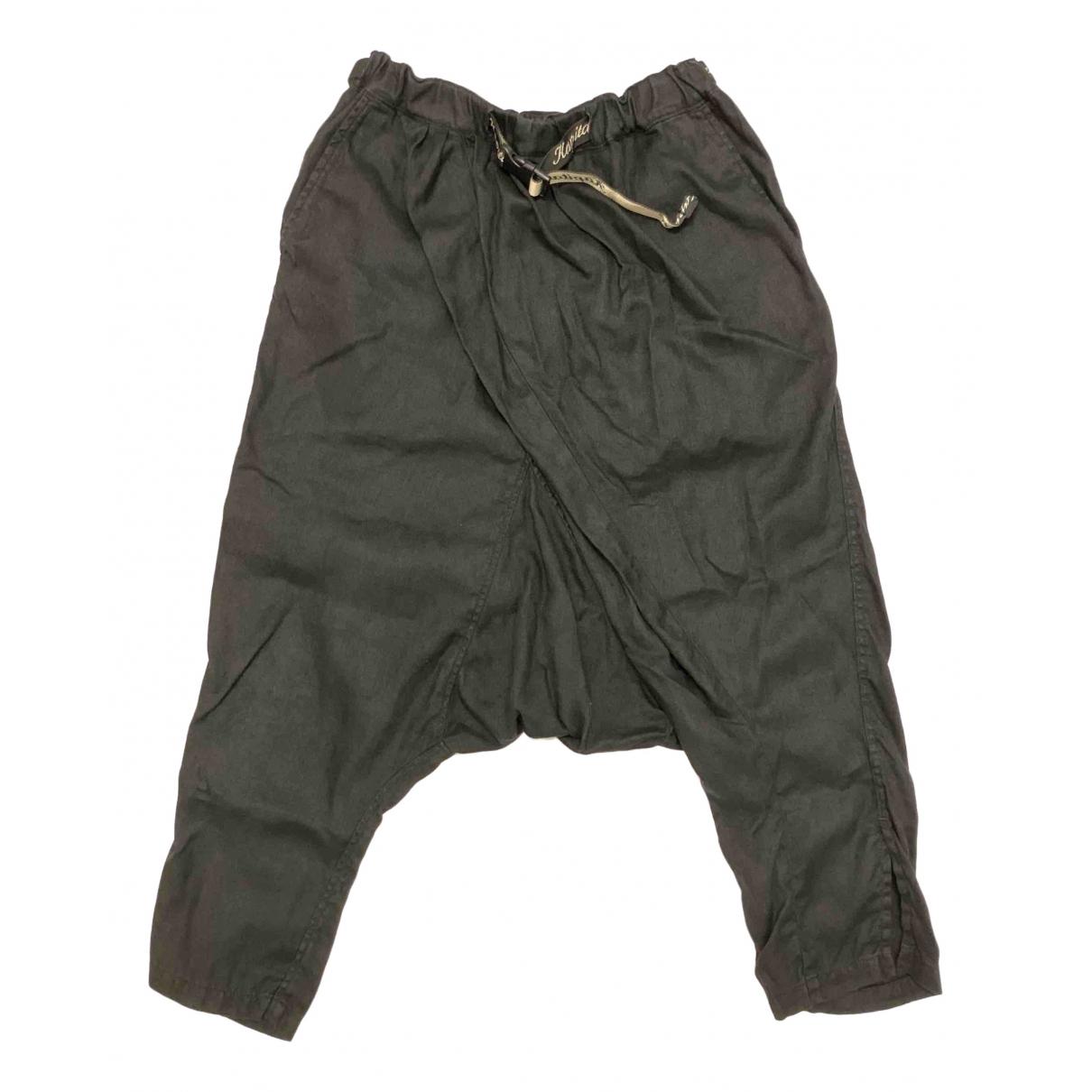 Pantalones en Poliester Negro Non Signe / Unsigned