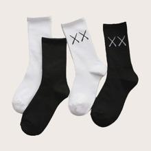 4 pares calcetines con dibujo