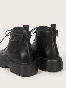 Buckle Decor Chelsea Boots
