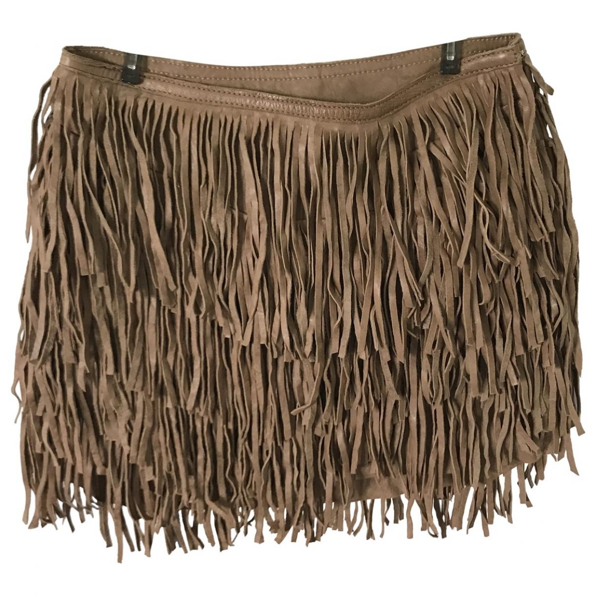 Isabel Marant \N Camel Suede skirt for Women 2 0-5