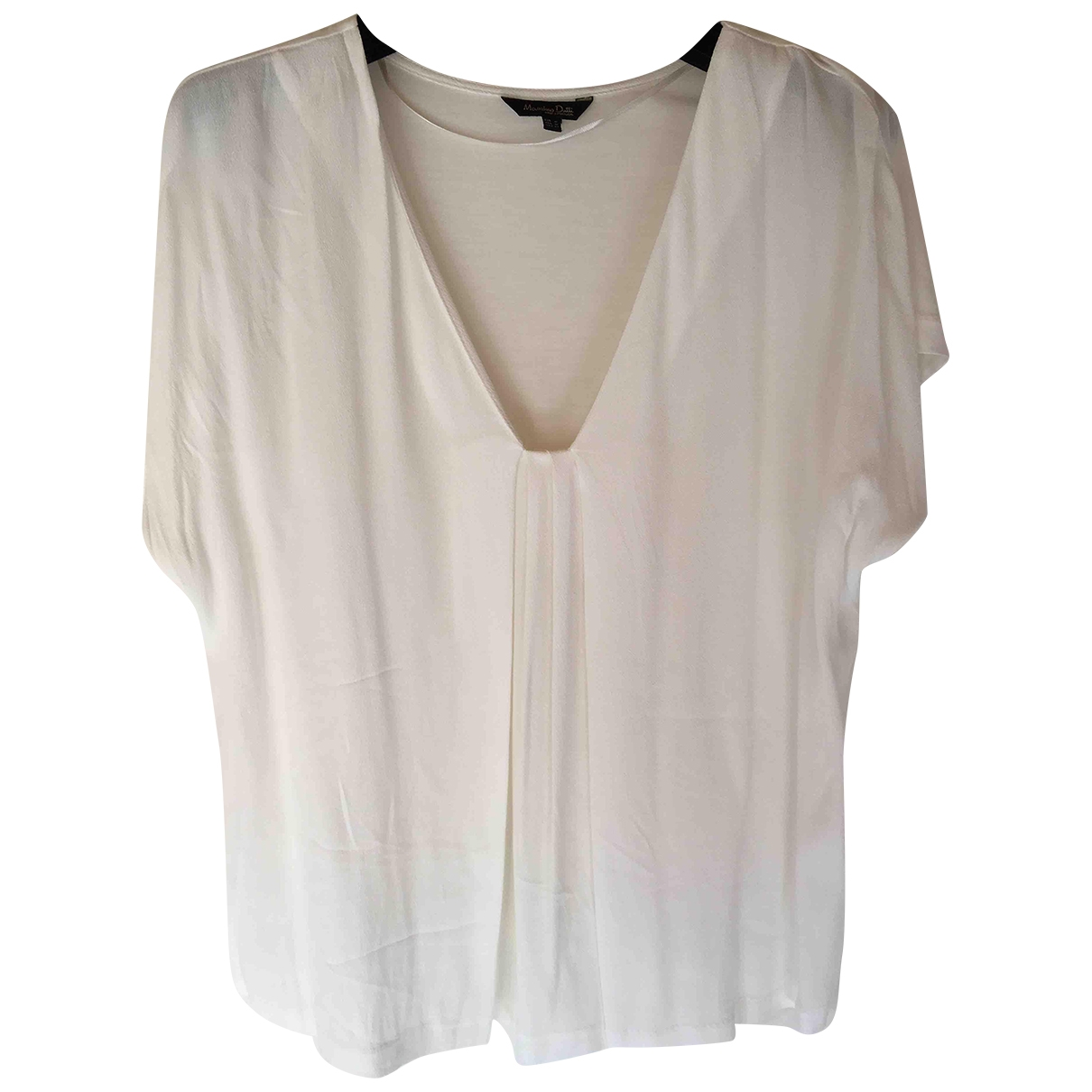 Massimo Dutti \N White Silk  top for Women M International