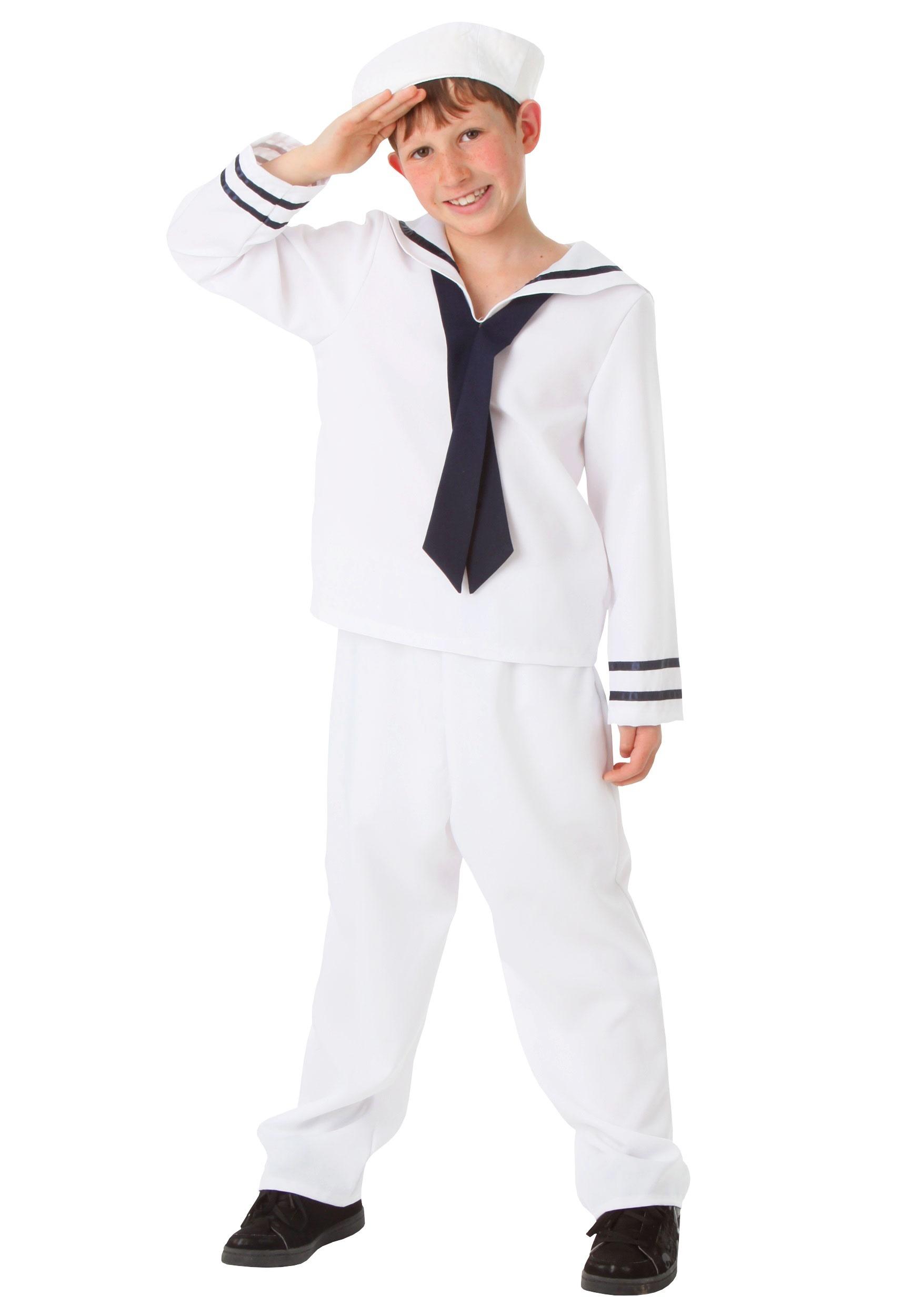 White Sailor Child Costume