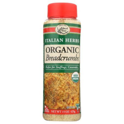 Organic Breadcrumbs Italian Herbs 15 Oz by Edward & Sons
