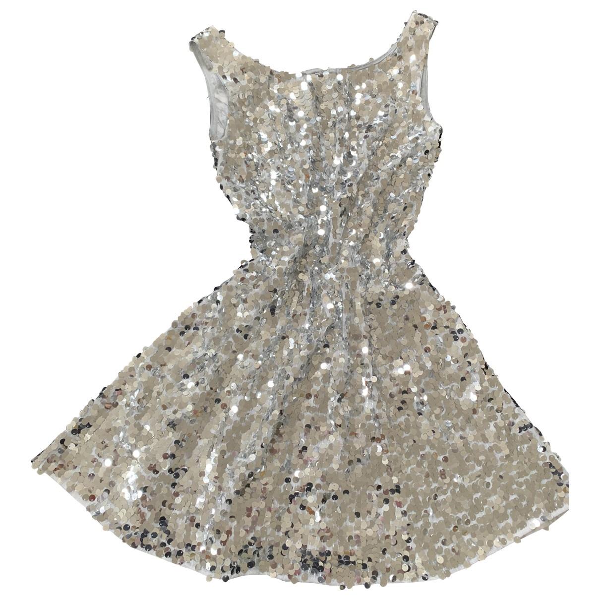 Dolce & Gabbana - Robe   pour femme en a paillettes - argente